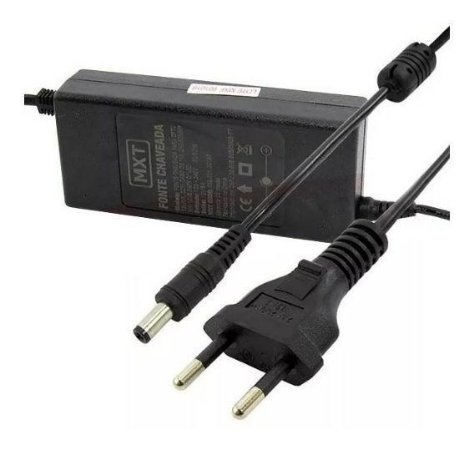 FONTE CHAVEADA P/CFTV 12V/5A, COM CABO DE 1M, 2X0.50MM MX-12V5.0AFX C/ LED