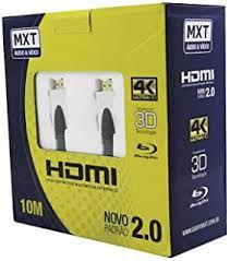 CABO HDMI 4K ULTRA HD C/ FILTRO 28AWG DOURADO 2.0V 10M