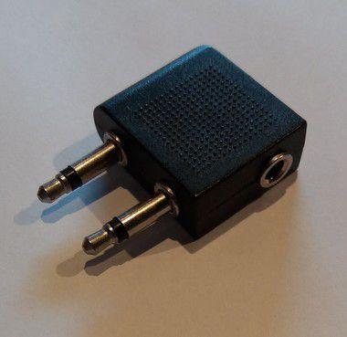 ADAPTADOR DE AUDIO P2 FEMEA PARA 2 P2 MACHO 3,5mm OEM