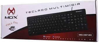 TECLADO MULTIMIDIA PLUG E PLAY MOX MO-KB120