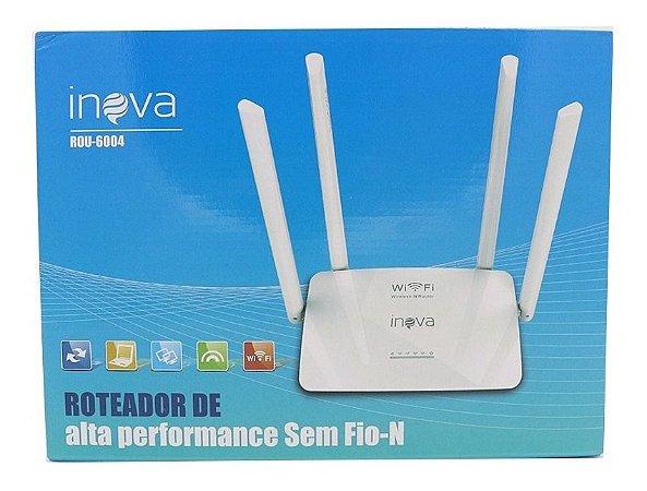 ROTEADOR 300 Mbps 4 ANTENAS INOVA - ROU-6004
