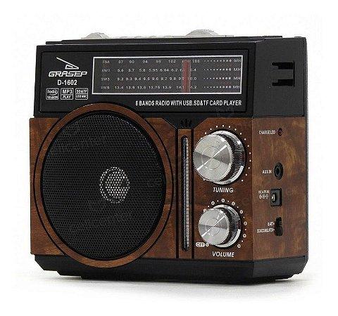 RADIO PORTATIL FM/AM/USB D-1602