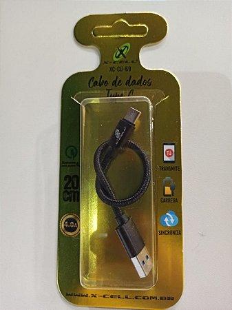 CABO DE DADOS USB/MICRO USB TYPE C MOD.XC-CD-69 - MARCA: X-CELL