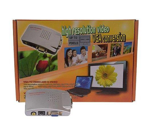 HIGH RESOLUTION VIDEO VGA para RCA AV Video ou S-Video Video Converter Cabo Adaptador de Vídeo PC para TV