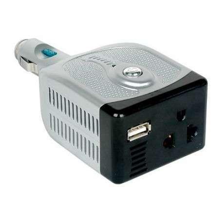 INVERSOR VEICULAR 100W - 12V-DC P/ 220V E 5V USB