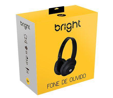 HEADPHONE FONE DE OUVIDO BRIGHT P2 COM MIC 0463