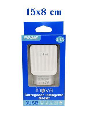 FONTE 5.1A 3 USB PRIME CAR-8562