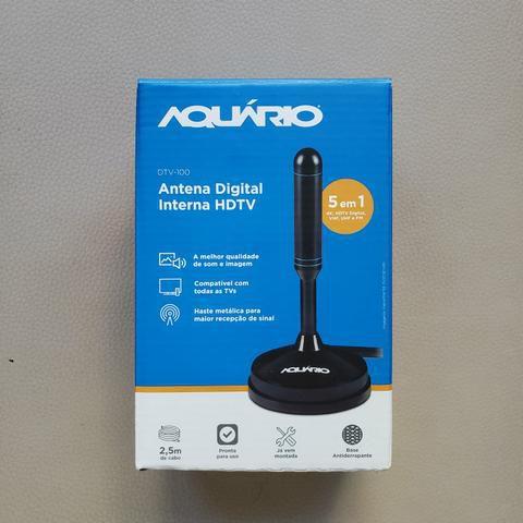 ANTENA DIGITAL INTERNA HDTV 5 EM 1 DTV-150 AQUARIO