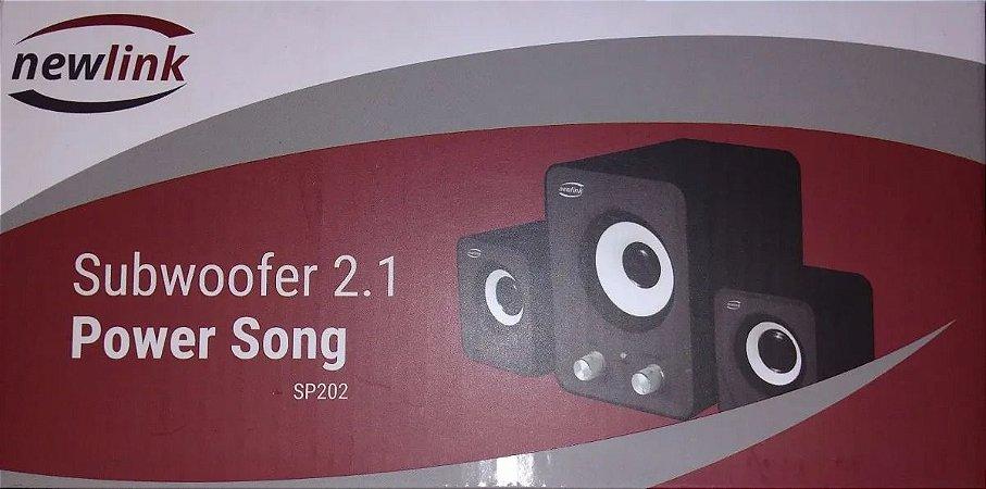 SUBWOOFER 2.1 POWER SONG NEWLINK SP202