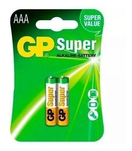 PILHA ALCALINA TAM AAA PACK C/2 GP SUPER GP24A-2UE2