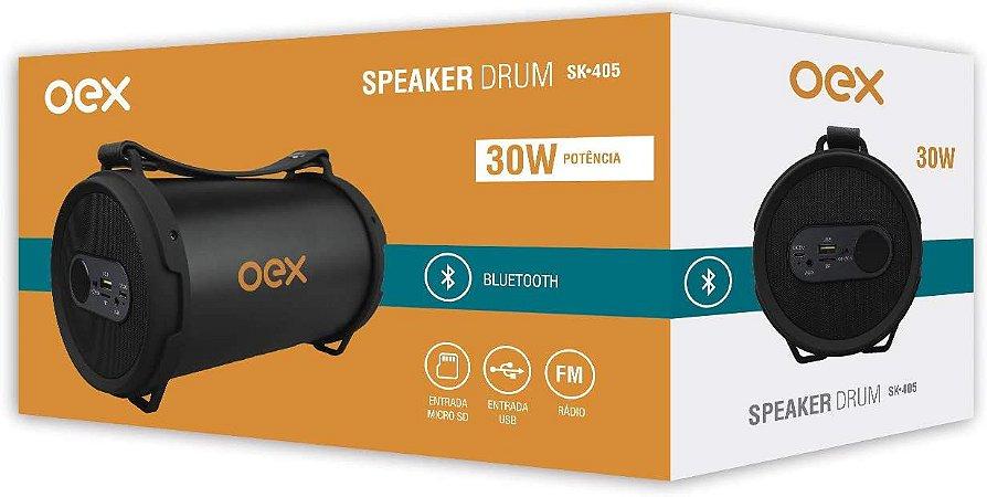 CAIXA DE SOM SPEAKER DRUM 30W OEX SK405PR