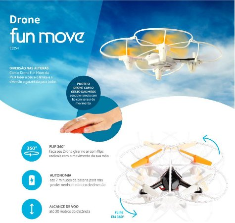 DRONE FUN MOVE MULTILASER ES254