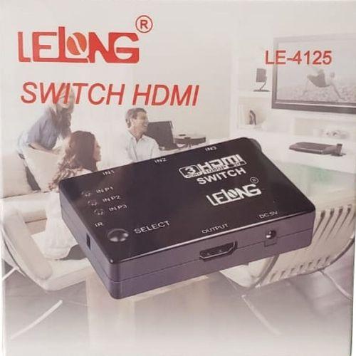 SWITCH HDMI 3X1 1080P LELONG LE-4125