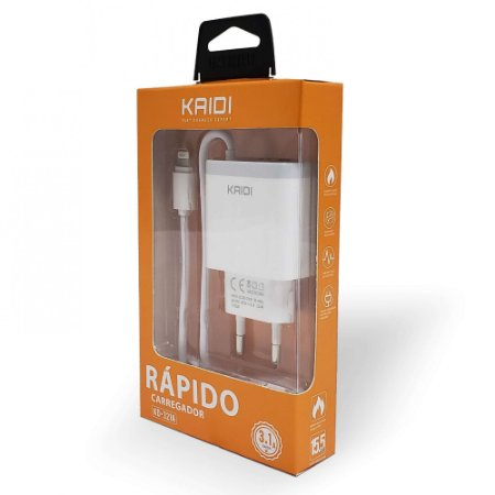 CARREGADOR RAPIDO LIGHTNING 2 USB 3.1A KAIDI KD-321A