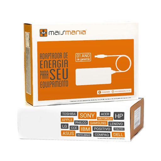 FONTE PARA NOTEBOOK MAISMANIA 14V 3A COMPATIVEL SAMSUNG DELL IBM MONITOR MM813