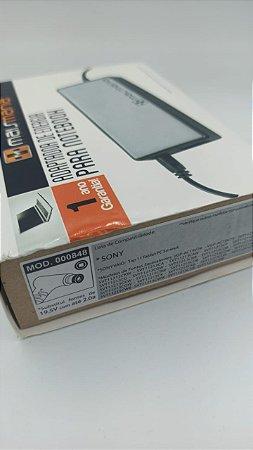 FONTE PARA NOTEBOOK MAISMANIA 19.5V 2A COMPATIVEL SONY MM848