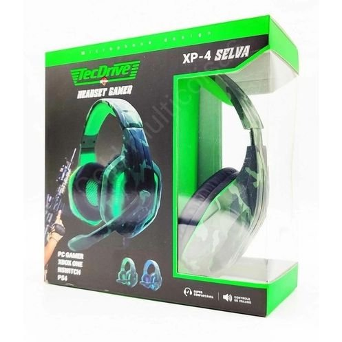 HEADSET GAMER PX-4-SELVA LED PS3 PS4 XBOX ONE P3 TECDRIVE