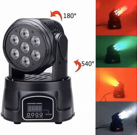 MINI MOVING HEAD WASH 7 LED 90W LUATEK LK-293