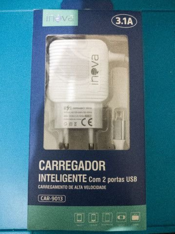 CARREGADOR INTELIGENTE INOVA V8 3.1A 2 USB CAR-9013