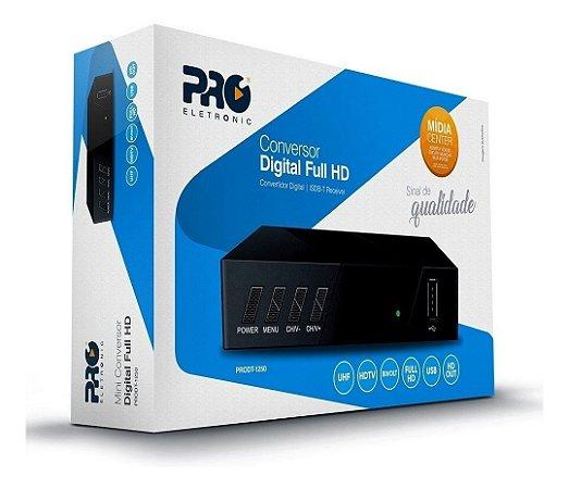 CONVERSOR DIGITAL FULL HD ISDB-T RECEIVER PRO ELETRONIC PRODT-1250