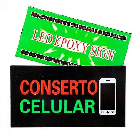 PLACA DE LED CONCERTO CELULAR 24X44 LE-4004 BIVOLT 12V
