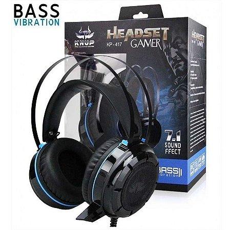 HEADSET GAMER 7.1 2 P2 E USB KNUP KP-417