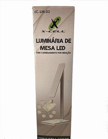 LUMINARIA DE MESA LED COM CARREGAMENTO POR INDUÇÃO X-CELL XC-LM-02