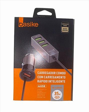 FONTE VEICULAR 4X USB 5.1A 35W BASIKE BA-CAR0045