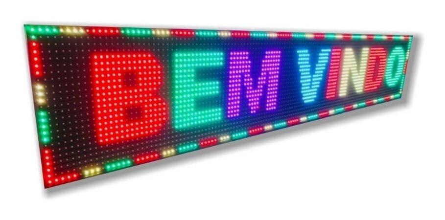 PLACA DE LED PROGRAMAVEL COLORIDO 100X20X6 LELONG SL1022C