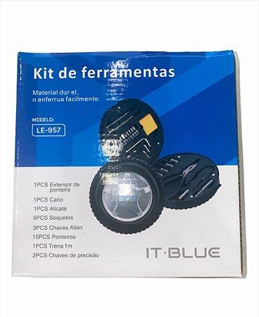 KIT DE FERRAMENTAS 24 PEÇAS IT BLUE LE-957