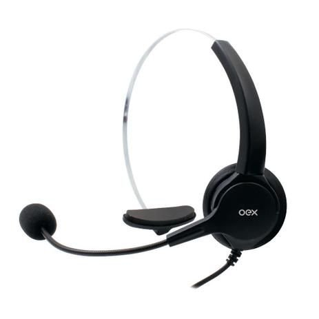 HEADSET CALL CONECTOR RJ11 PRETO USB OEX HS101