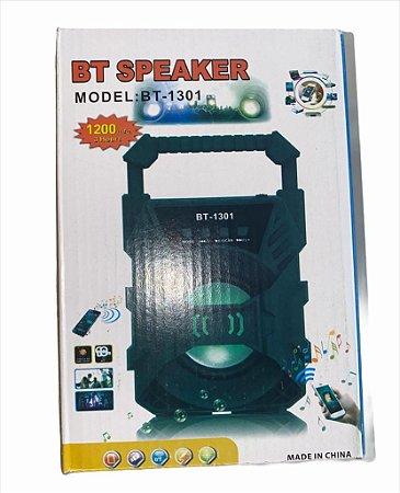 CAIXA DE SOM BT SPEAKER 1.200MAH 3 HORAS DE DURAÇÃO BT-1303
