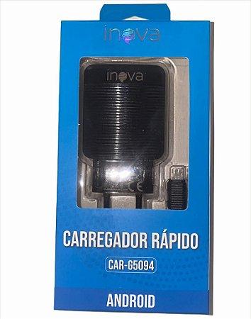 CARREGADOR RÁPIDO V8 INOVA 5V 2.4A CAR-G5094