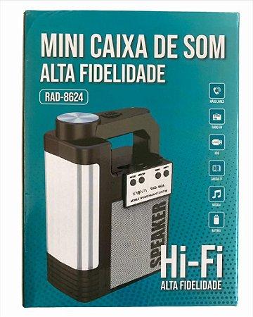 CAIXA DE SOM INOVA 6W COM LANTERNA COLORIDA RAD-8624
