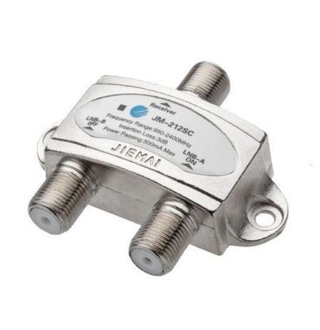 CHAVE DISEQC BLINDADA 1X2 LNB-A/B 950-2400MHZ JM-212SC