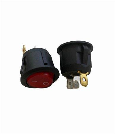 CHAVE POWER ON/OFF VERMELHO KCD1-105 6A/250V