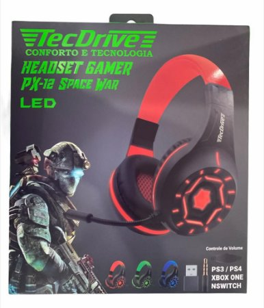 HEADSET GAMER PX-12 SPACE WAR PS3 PS4 XBOX ONE P3 TECDRIVE