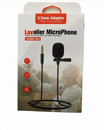 MICROFONE DE LAPELA P2 3.5 LAVALIER HSX-M01