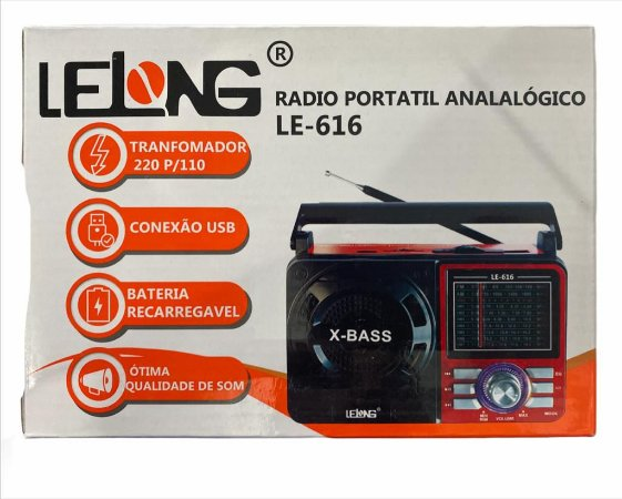 RADIO PORTATIL ANALOGICO LELONG LE-616