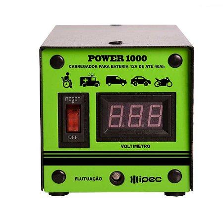 CARREGADOR PARA BATERIA POWER 1000 12V ATÉ 30Ah IPEC A2345