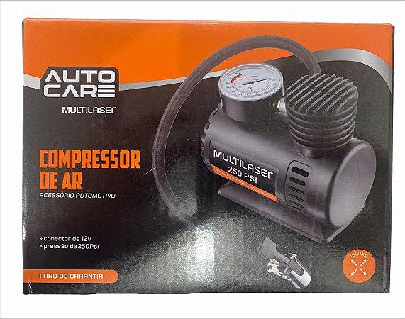 COMPRESSOR DE AR 12V PRESSÃO 250PSI 15L/MIN AUTOCARE MULTILASER AU601