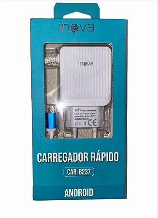 CARREGADOR RÁPIDO INOVA V8 4.1A 2 USB CAR-8237