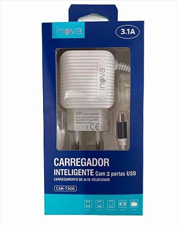 CARREGADOR PARA CELULAR 5V 3.1A V8 CAR-7306