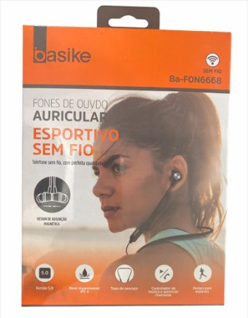 FONE DE OUVIDO PESCOÇO ESPORTIVO BLUETOOTH BASIKE BA-FON6668