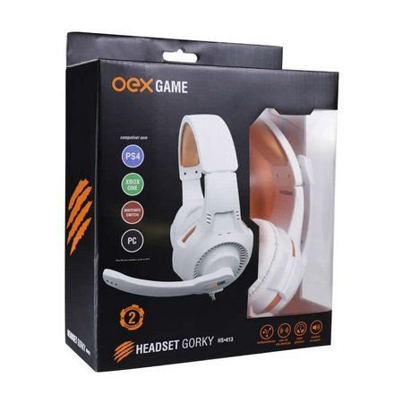 HEADSET GORKY P3 MULTIPLATAFORMA PS4 XBOX PC OEX GAME HS413 - BRANCO