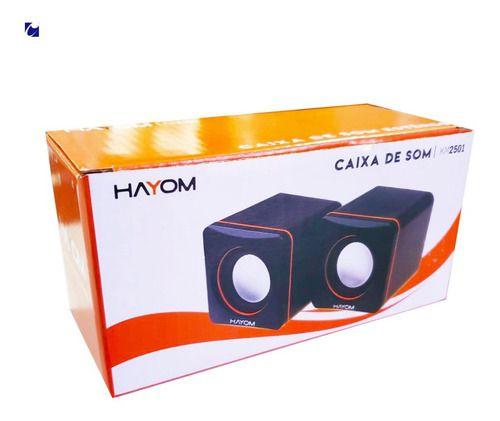 CAIXA DE SOM ESTEREO 3W P2 E USB HAYOM KM2501