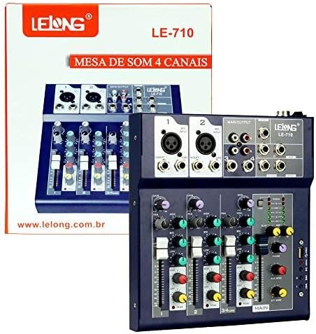 MESA DE SOM 4 CANAIS LELONG LE-710