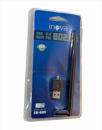 ADAPTADOR WIRELESS USB 900Mbps C/ ANTENA INOVA CHI-6401