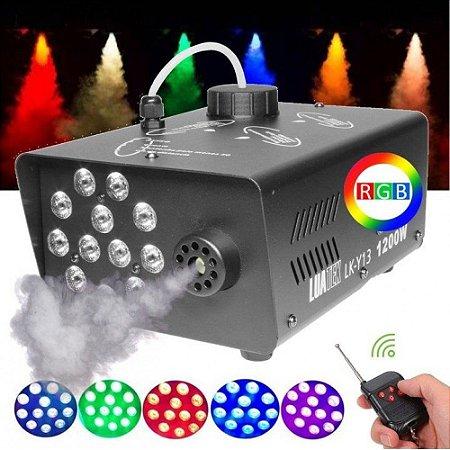 MAQUINA DE FUMAÇA LED RGB 110V 1200W LUATEK LK-Y13