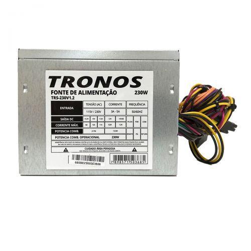 FONTE ATX 230W REAL BRASILPC 24 PINOS TRONOS TRS-230V1.2